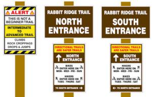 Jackrabbit Trail Signage - Hayesville, NC