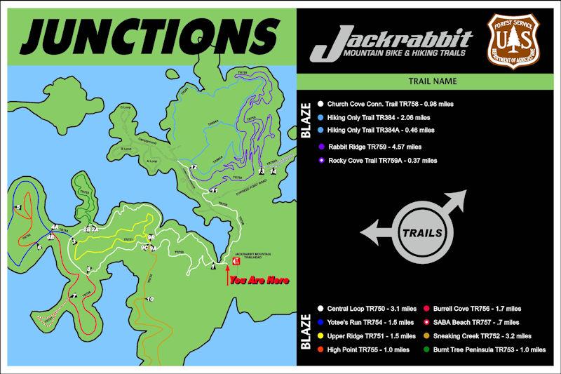 Jackrabbit Trail Map - Hayesville, NC